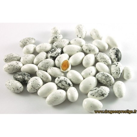 Dragées tiramisu blanc moucheté 500g